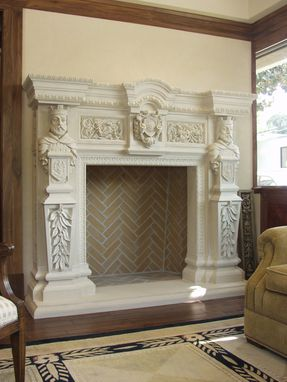 Custom Made Fireplace Gfrc Concrete  Fireplace Surround