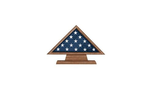 Custom Made Retirement Flag Memorial Case Pedestal