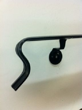 "Custom Made 8'-6"" Wrought Iron Wall Mounted Handrail"