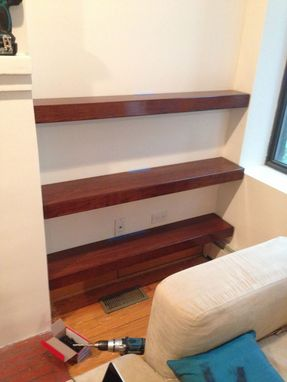 Custom Made Cherry Floating Shelves