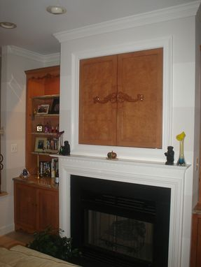 Custom Made Built Ins Around Fireplace
