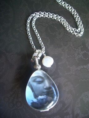 Custom Made Glass Locket With Buddha Teardrop