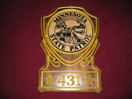 "Custom Made State Troop ""Thank You"" Plaque"