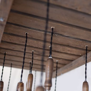 Custom Made Wood Pallet Chandelier