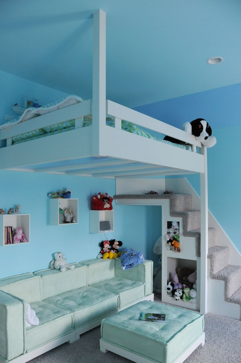 Handmade Built-In Custom Loft Bed by Yoder Custom Design ...