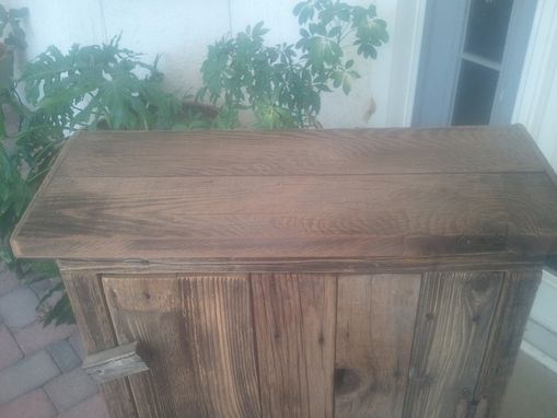 Custom Made Large Barnwood Jelly Cabinet