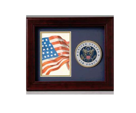 "Custom Made Air Force 10"" X 8"" Medallion Frame, Photo And Medalion Frame Air"