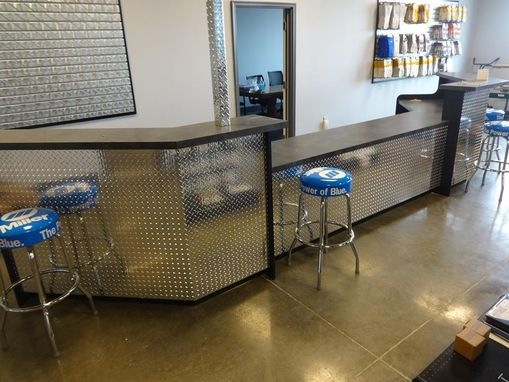 Custom Made Industrial Reception Desk Or Sales Counter