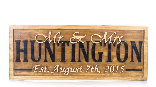 Custom Made Personalized Wedding Gift Last Name Sign  Personalized Sign Anniversary Gift Wood Sign