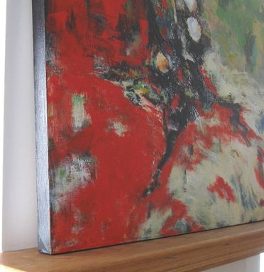 Custom Made Red Origianl Abstract Painting Original Acrylic On Canvas