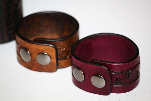 Custom Made Custom Made Leather Wrap Around Cuff Bracelets