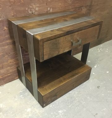 Custom Made Steel Belt Nightstand