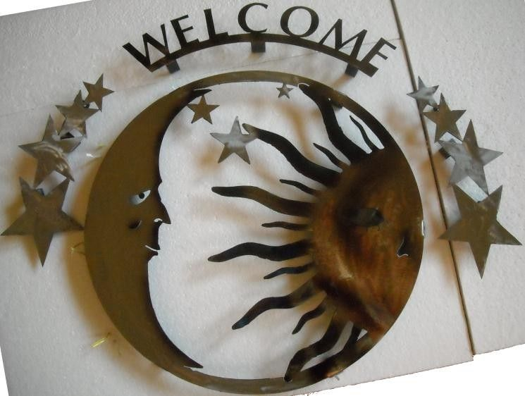 Hand Crafted Sun And Moon Wall Art By Superior Iron Artz Llc Custommade