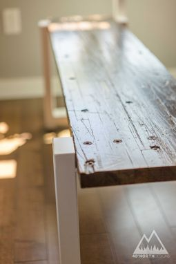 Custom Made Modern Rustic Coastal Farmhouse Table + Bench