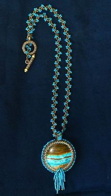 Custom Made A River Runs Through It Beaded Necklace And Pendant