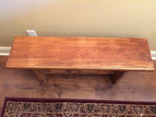 Custom Made Bench/ Benches 40 Inch Bench, Stained In Antique Walnut