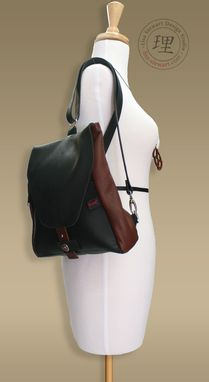 Custom Made Leather & Suede Ladies Shoulder And Crossover Backpack