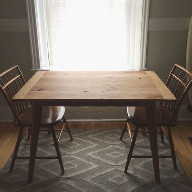 Custom Made Reclaimed Red Oak Farmers Table