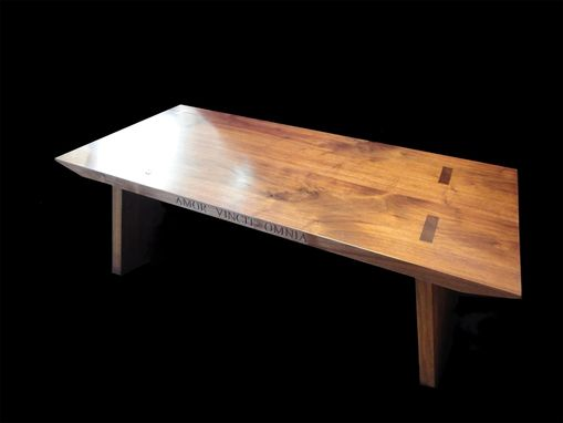 Custom Made Walnut Coffee Or Cocktail Table