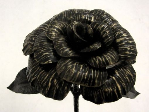 Custom Made Metal Rose Sculpture : Full Size