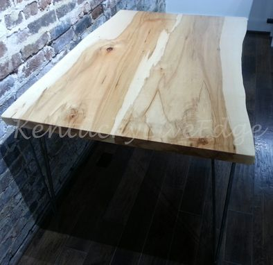 Custom Made Live Edge Dining Table, Kitchen Table, Breakfast Table, Writing Desk, Sustainable Wood, Modern