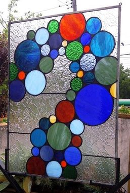 Custom Made Stained Glass Panel - Bubbles And More Bubbles  (P-5)