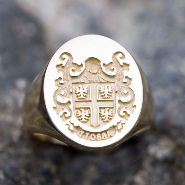 Custom Signet Rings Family Crest Rings Coat Of Arms Rings