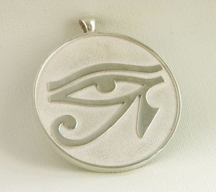 Custom Made Sterling Silver Egyptian Eye Of Horus Pendant