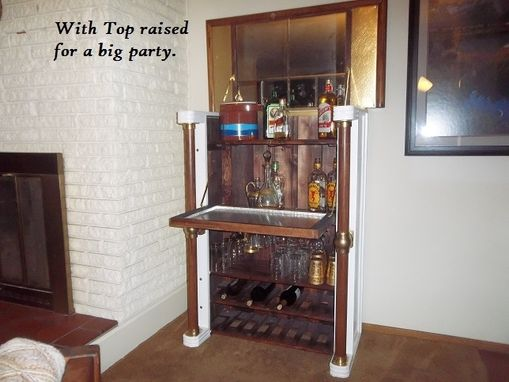 "Custom Made ""Vail Valley"" Model Wine And Liquor Cabinet"