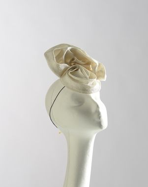 Custom Made Free-Form Straw Bridal Headpiece