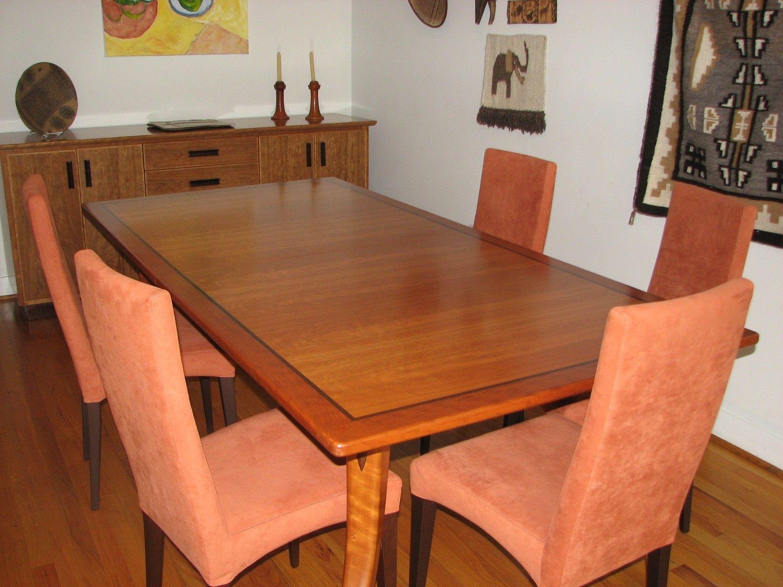 Custom made cherry veneer dining table