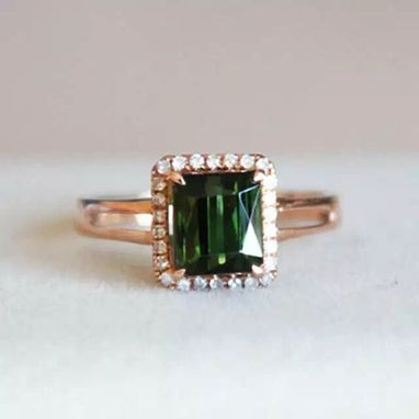 Custom Made 2.32 Carat Tourmaline Ring In 14k Rose Gold