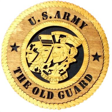 Custom Made U.S Army The Old Guard Wall Tribute, U.S Army The Old Guard Hand Made Gift