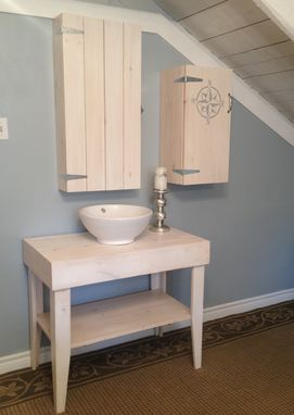 Custom Made White Washed Bathroom Set.