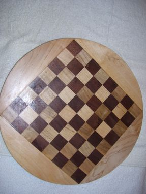 Custom Made Checker Chess Lazy Susan 16