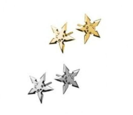 Custom Made Throwing Star 5 Point Earring