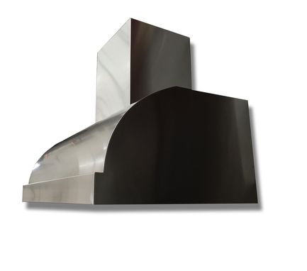 Custom Made #36 Simple But Bold Custom Range Hood In Brushed Stainless Steel444