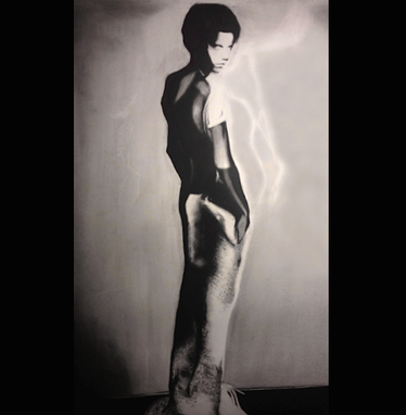 Custom Made Large-Scale Charcoal Drawing