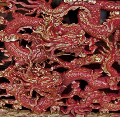 Custom Made Dragon Carving Restoration