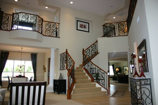 Custom Made Iron & Wood Custom Stair Job