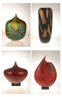Custom Made Murano Art Glass Vases By Gianluca Vidal