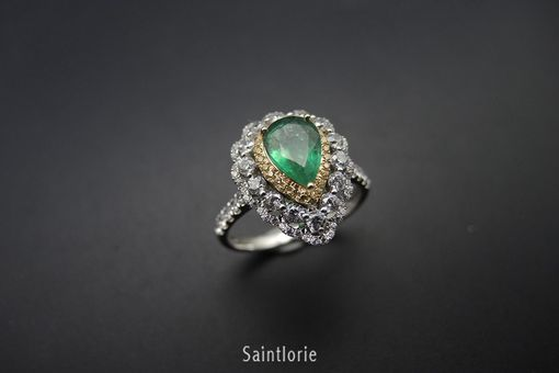 Custom Made 1.7 Carat Emerald Engagement Ring