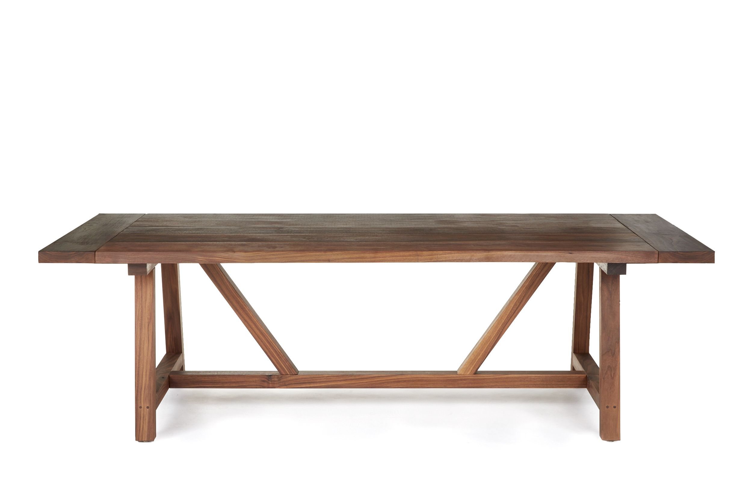 Walnut trestle dining table - Hand Made Solid Walnut Trestle Dining Table By This Old Wood Shop Custommade Com