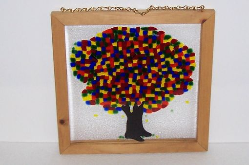 Custom Made Stained Glass Fused Tree