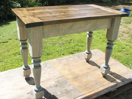 Custom Made Turned Legs Kitchen Island