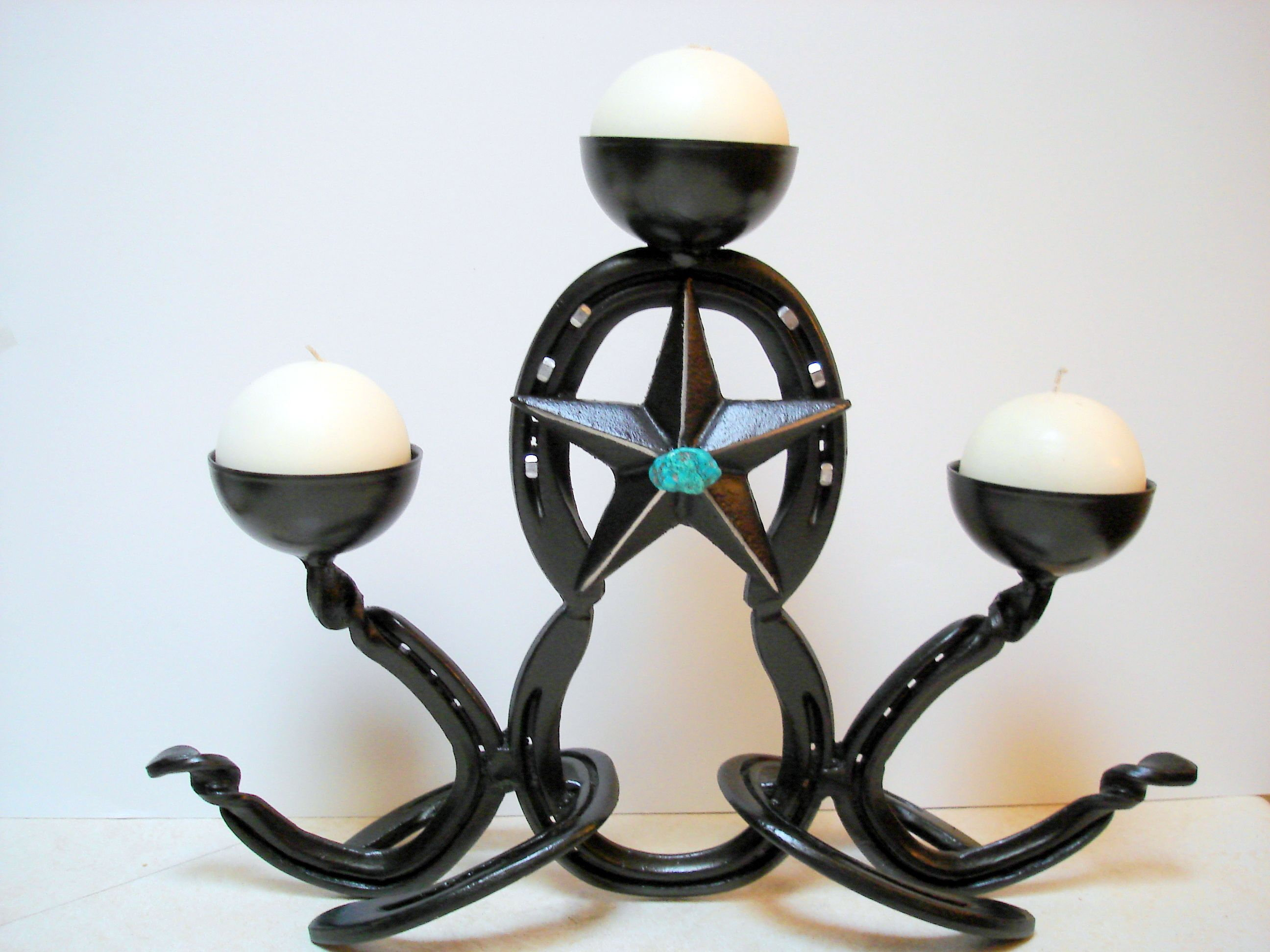 Buy A Hand Made Horseshoe Art Candle Holder Made To Order From