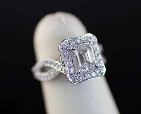 Custom Made Layla Emeral-Cut Diamond Engagment Ring
