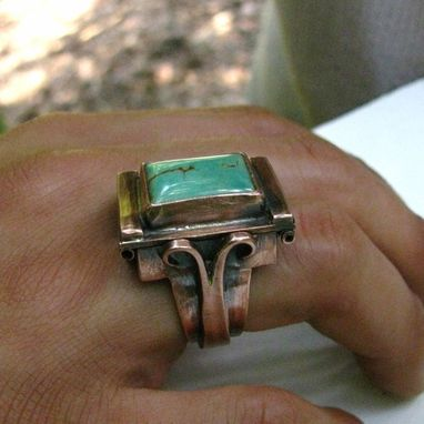 Custom Made Poison Ring , Sterling Silver Copper Or Bronze Custom Made Various Gemstones