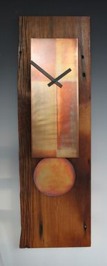 Custom Made Reclaimed Antique Barn Wood Clock