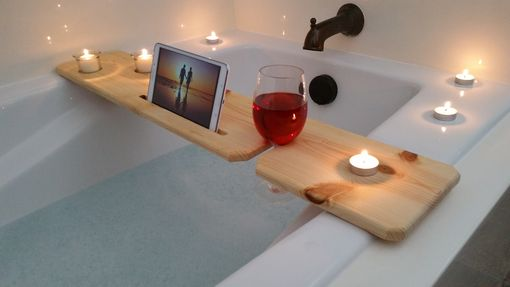 Custom Made Bath Tub Tray - Natural
